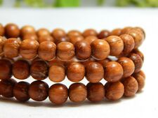 70 6mm Natural Bayong Wood Beads Wooden Round Nature Red Brown DIY Craft D-J04