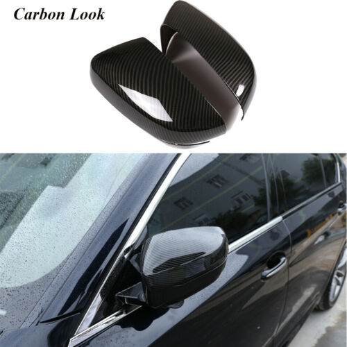 For BMW G20 G21 G30 G38 Side Mirror Cover Cap Carbon Look LHD Add-on 2PCS