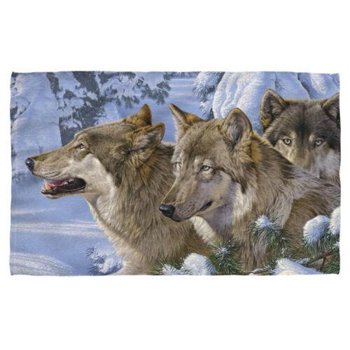 Wild Wings Art Wolves Wolf WINTER/'S WARMTH Lightweight Beach Towel