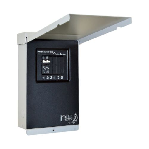 4 -FREE SHIP! MNEPV20 Breakers Midnite Solar MNPV6 PV Combiner Box Includes