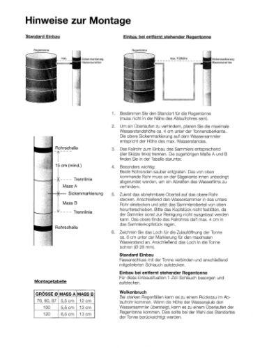 Regenwassersammler Wassersammler  zink   80 mm