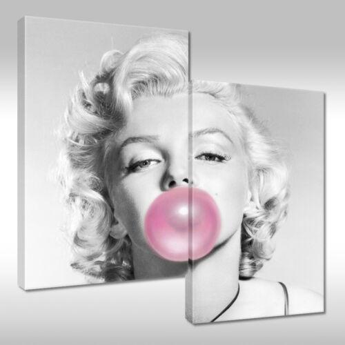 Leinwandbild Canvas Print Wandbild Marilyn Monroe mit Kaugummi Nr 2045