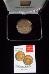 Details about Wells Fargo & Co  150th Anniversary Commemorative Coin w/ COA  & Case Made in USA