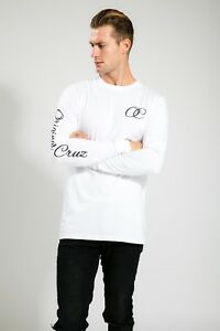 AUSTRALIAN-DESIGNER-MEN-039-S-WHITE-SUMMER-LONG-SLEEVE-WITH-SCRIPT-PRINT
