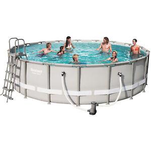 Bestway-56427-Frame-Pool-Set-mit-Filterpumpe-Leiter-Fix-Aufbau-549x132cm-Rund