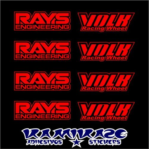 STICKER STICKER AUTOCOLLANT ADESIVI AUFKLEBER DECAL KIT VOLK RAYS ENGINEERING