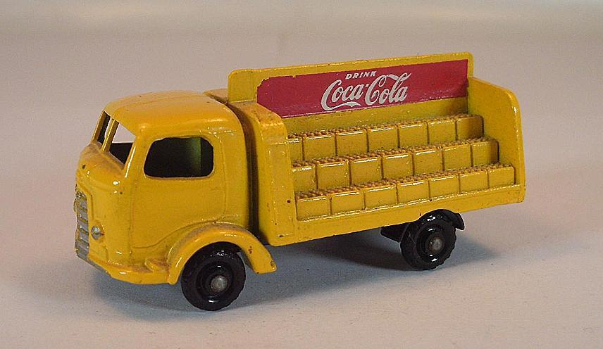 Matchbox regular Wheels nº 37 B coca cola Lorry amarillo R. Ax. BPW Lesney 1  184