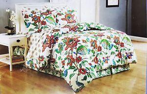 Floral-Cottage-Queen-Comforter-Sheet-Set-Reversible-Shams-Bedskirt-8pc-New