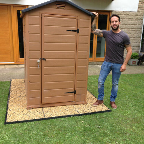 ECO BASE GRID2 13.6SQ//M GARDEN BASE KIT 4 x 3.4m SUITS 4x3 SHEDS or GREENHOUSE