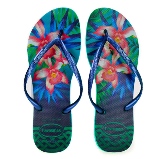 7c5e3e77f155 Havaianas Slim Tropical Ladies Flip Flops in MINT UK 8 7891224782543 ...