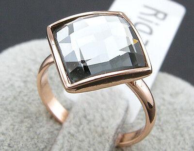 18K Rose Gold GP Austrian Crystal Square Jewelry Elegant Ring BR069