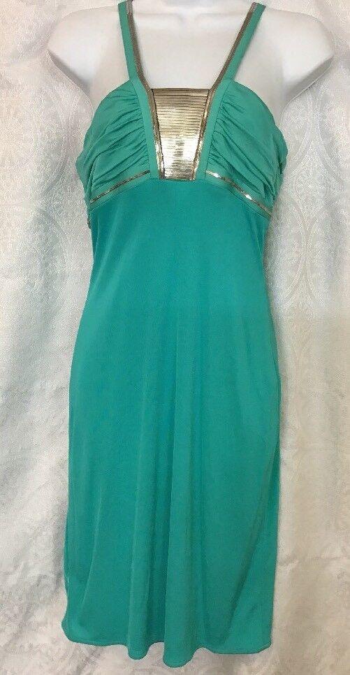 Versace Vestido verde Con Plata Diseño sin mangas  talla 6  hasta un 70% de descuento