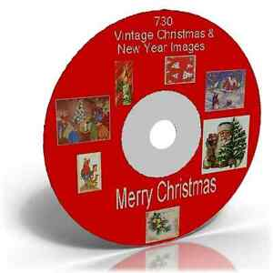 730-VINTAGE-CHRISTMAS-IMAGES-ON-CD-DECOUPAGE-CARDMAKING