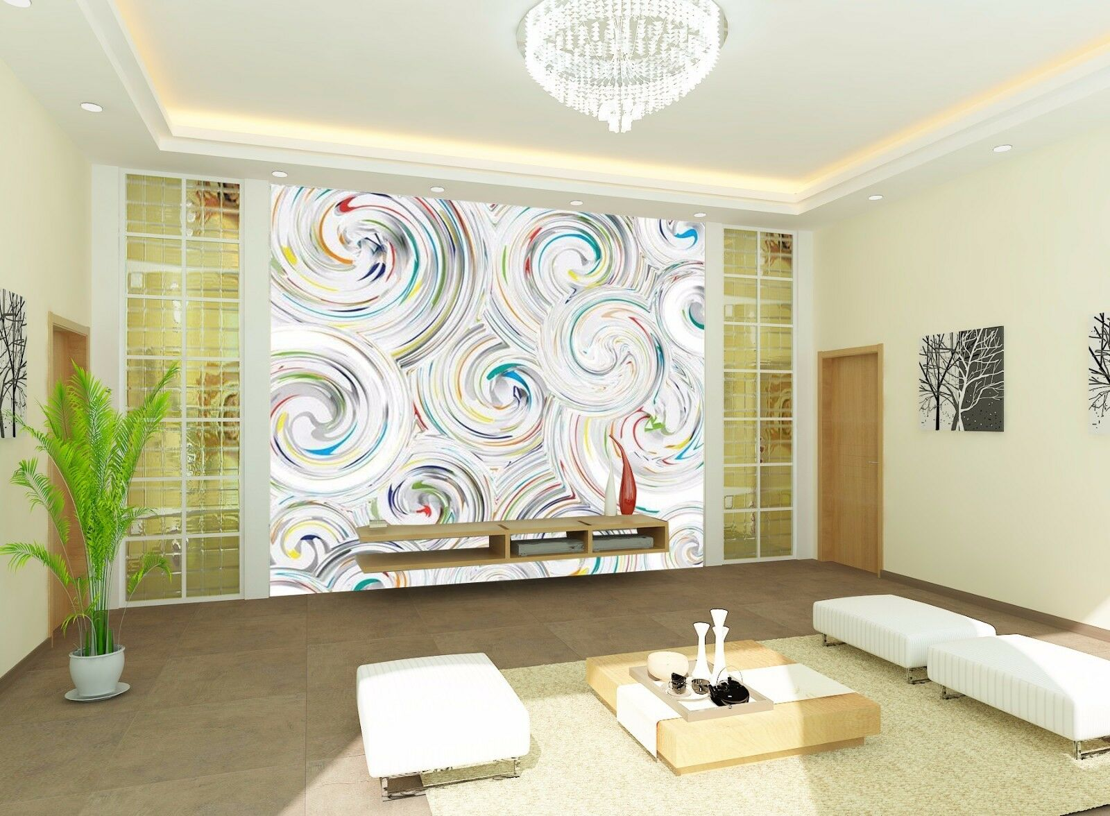 3D Spiraly 51 Wallpaper Murals Wall Print Wallpaper Mural AJ WALL AU Kyra