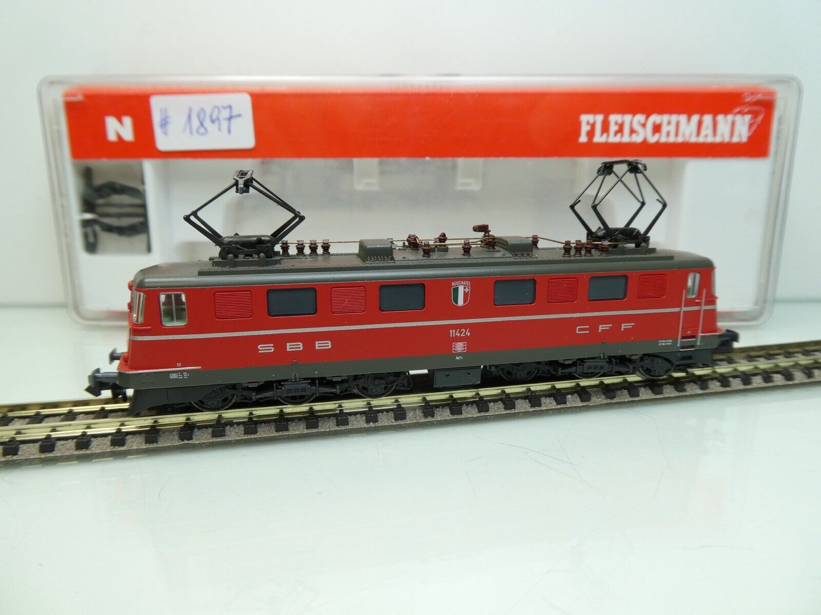 marca famosa Fleischmann 737205 737205 737205 - Spur N - SBB CFF - E-Lok 11424 - NEUCHATEL - OVP -  1897  el mas reciente