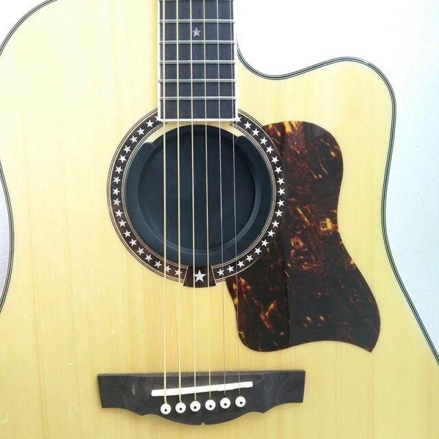 screeching halt acoustic guitar sound hole cover block plug rubber black for sale online ebay. Black Bedroom Furniture Sets. Home Design Ideas