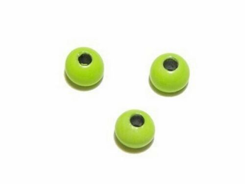 Tungsten Beads for heavy nymphs 10pcs.// fly tying materials Fluo Yellow