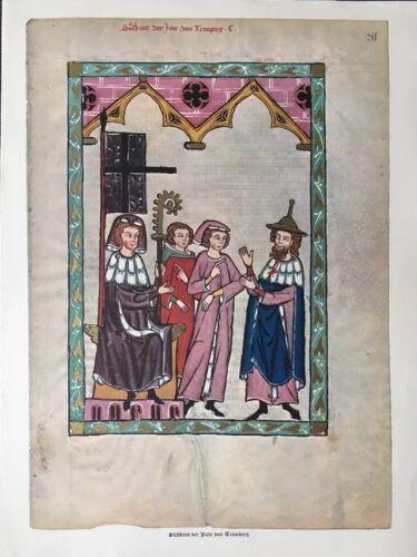 Süßkind Von Trimberg 14. Jahrhundert Motiv aus Codex Manesse
