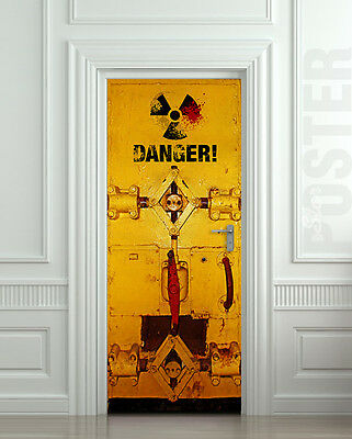 Artdeco Door STICKER entrance decole mural poster 30x79