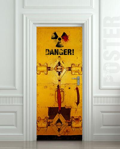 Door STICKER danger decole mural poster
