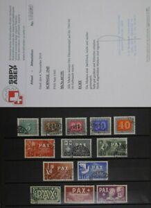 TREFF-Schweiz-PAX-Satz-MiNr-447-459-gestempelt-geprueft-Attest-1000