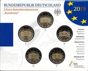 2 Euro Commémorative d'Allemagne 2019 Brillant Universel (BU) - Bundesrat