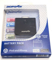 Digipower Battery Pack For Ipod & Iphone (3g) Charge & Sync