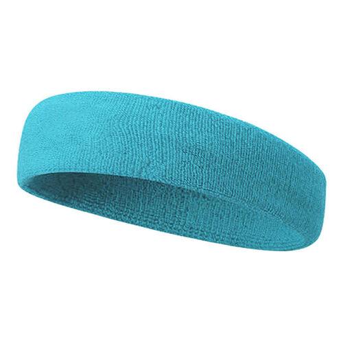 Ladies Mens Stretchy Sports Gym Cotton Sweatbands Sweat Bands Headband Hairband