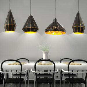Détails sur Suspendu Luminaire Chambre à Coucher Design Forme Plafond  Couloir Spot or Noir
