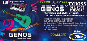 Styles+Voices+Drum Kits from GENOS DOWNLOAD TYROS5 PSR-S975//970//SX700