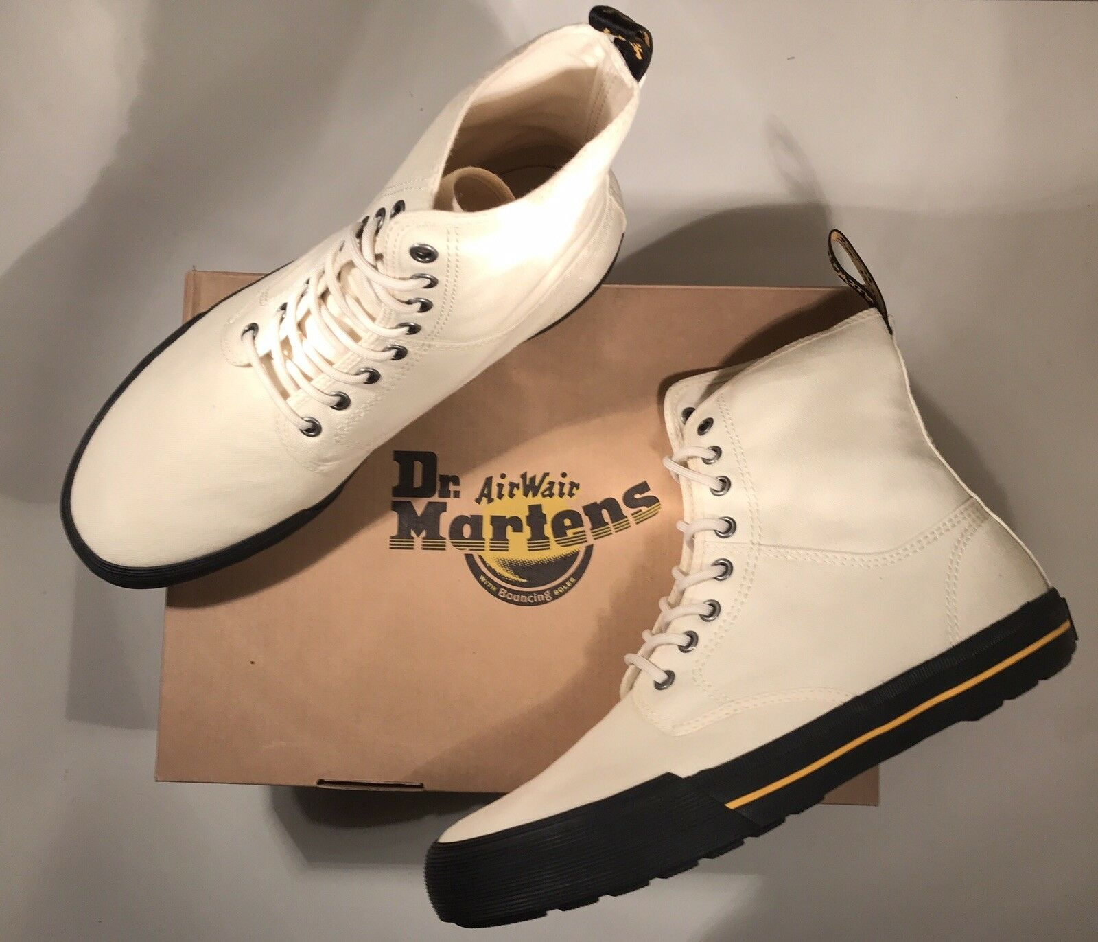 BNIB Dr Martens WINSTED ECRU CANVAS Stiefel Original 5 Unisex Guaranteed Original Stiefel 979aee
