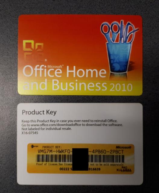 Office 2010   Home & Business PKC 1PC   Vollversion 32bit + 64bit