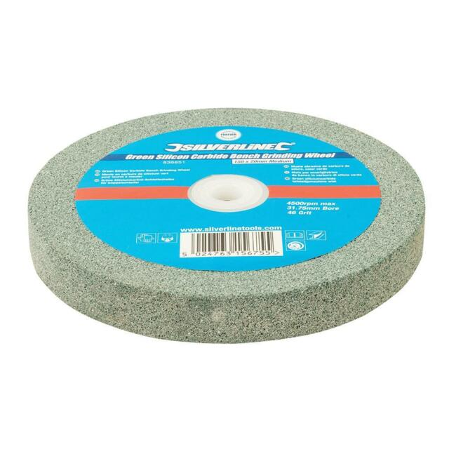 Silverline Green Silicon Carbide Bench Grinding Wheel 150 X 20mm Medium 836851