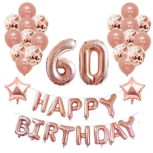 Image Is Loading Yoart 60th Birthday Decorations Rose Gold For Women