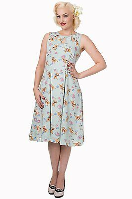 Whimsical Sleeveless All-over Print Mint Dress S-4XL Banned Apparel