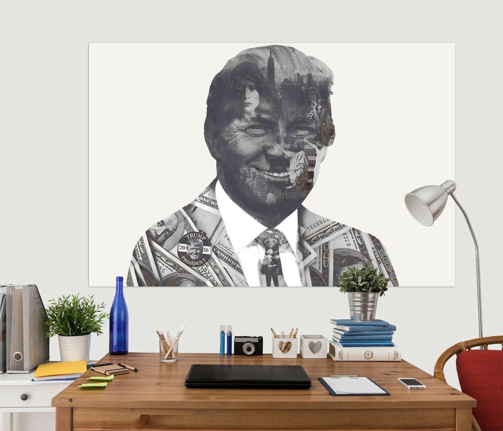 3D Smiling Man Woman ZHU421 Wall Stickers Wallpaper Murals Marco Cavazzana Amy