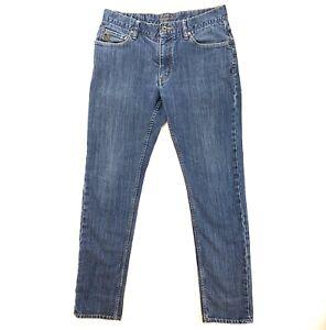ORIGINAL-PENGUIN-Mens-Size-32-x-32-Blue-Jeans-Slim-Fit