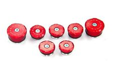 Ducabike Ducati 848 1098 1198 Frame Plug Caps Kit TT109801 - Red