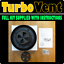 Van Motor Home Camper RV Low Profile Roof Mounted Fan Air Vent Truck BLACK Fiat