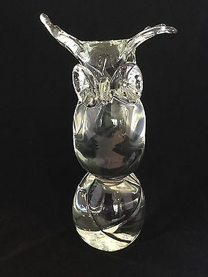 Licio Zanetti Murano Italy Glass Owl Bird Animal Sculpture              *653