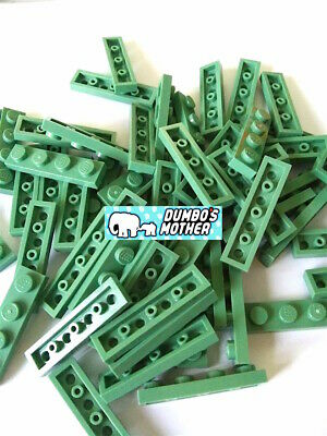 LEGO Sand Green 1x4 Plates Plate Building Parts NEW Sold in Lots of 50