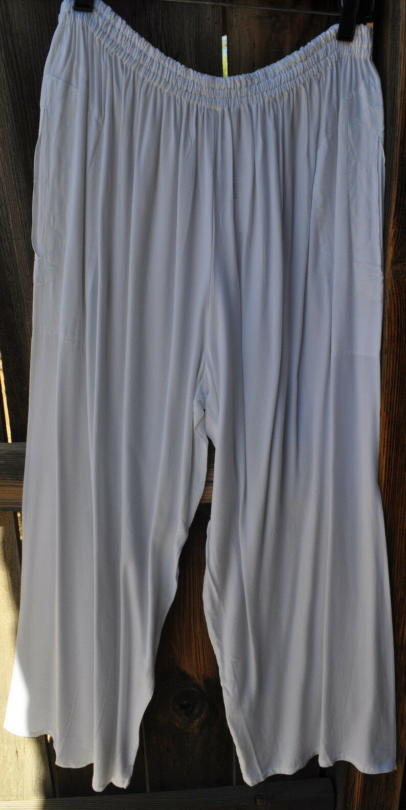 ART TO WEAR ANACAPA PANTS IN CLASSIC SOLID FLAT Weiß BY MISSION CANYON,OS+,