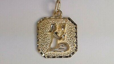 26mm Silver Yellow Plated Zodiac Aries Charm