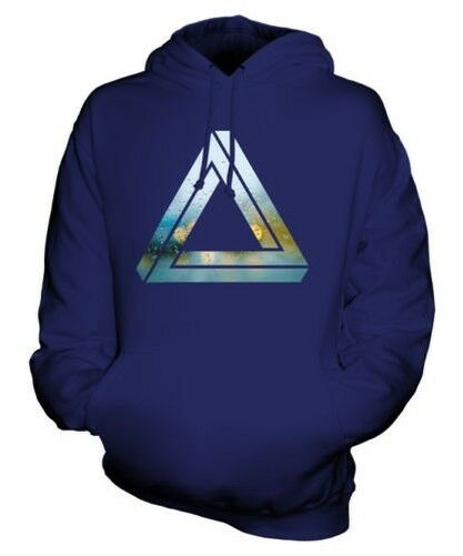 IMPOSSIBLE TRIANGLE UNISEX HOODIE TOP GIFT SYMBOL PAGAN