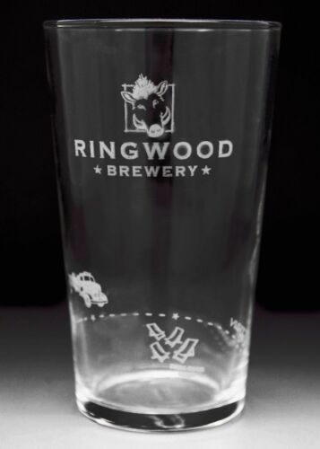 Personalised Branded 1 Pint Ringwood Brewery Cider Glass Engraved Gift
