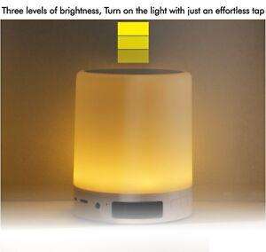 Brand New Smart Touch Lamp Bluetooth Speaker, w/Clock, FM Redio |SLS-1|