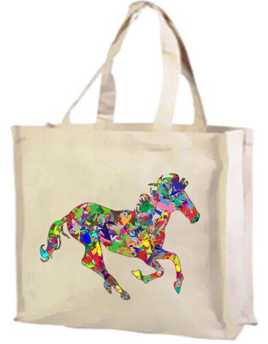 Psychedelic Cavallo Cotone Shopping Bag-scelta di colori.