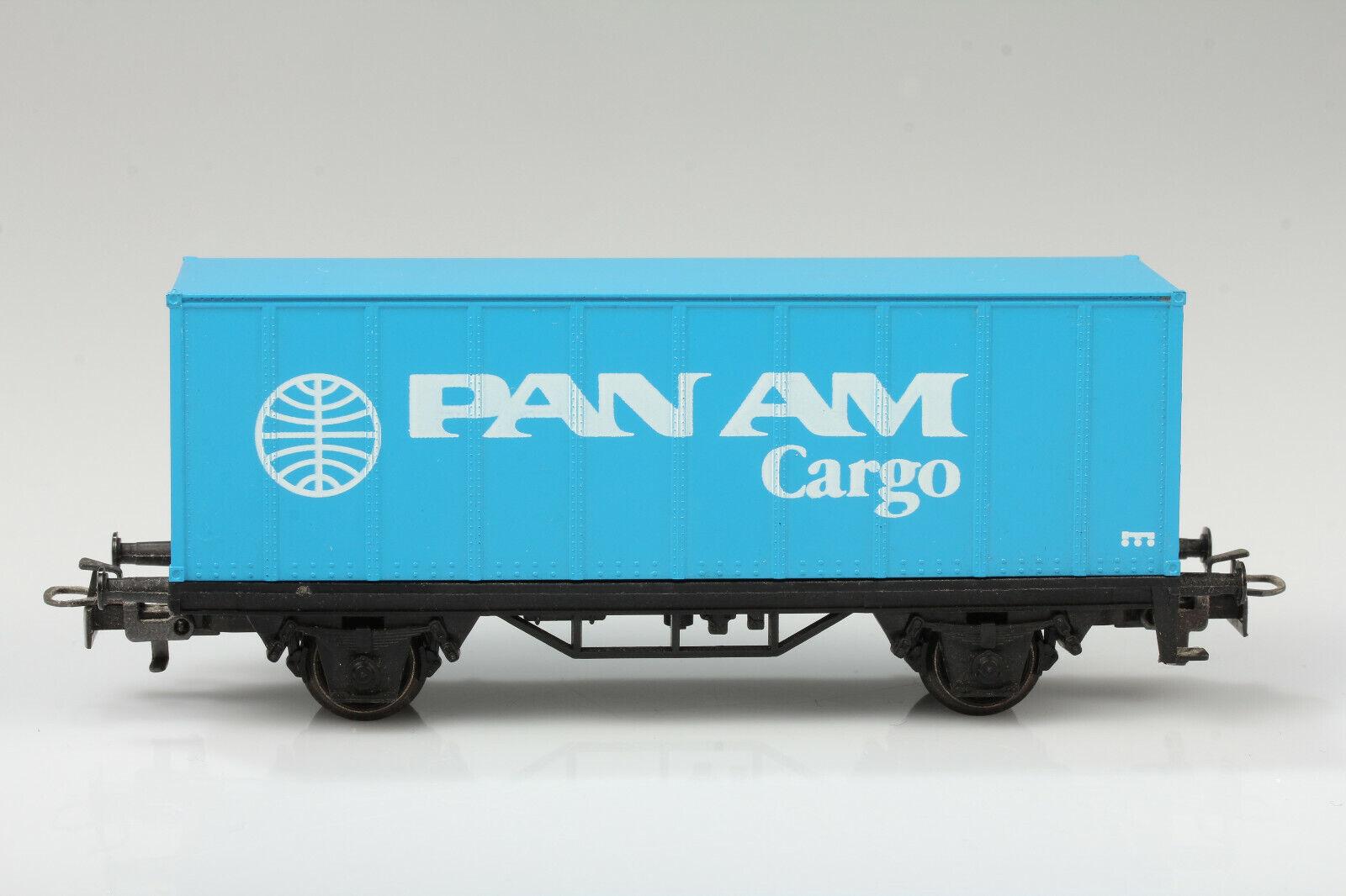 H0 Märklin Vagón Contenedor Pan Am Cargo Suciedad   Arañazo sin Emb.orig