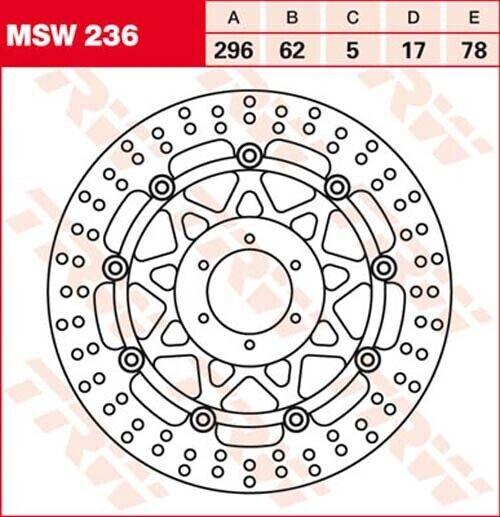 Bremsscheibe Honda VFR800 RC46 Bj 2003 TRW Lucas MSW210