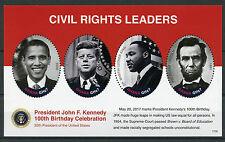 Ghana 2017 MNH JFK John F Kennedy 100th 4v M/S I Lincoln King Obama Stamps